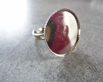 Support ring silver and scalloped