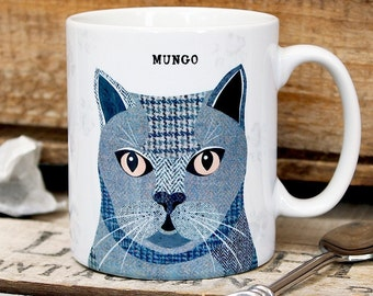 British Shorthair cat personalised mug