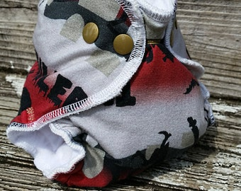 Newborn AIO Super Squishy Thriller / Cloth Diaper / Cloth Nappy