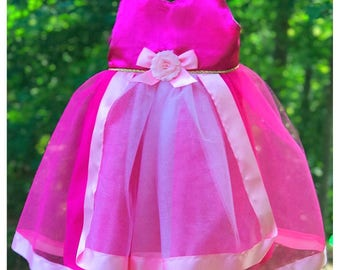 Pink Fairy Godmother Outfit: green blue also available, Sleeping Beauty, tutu dress, cape, halloween costume, parks vacation, meet & greet