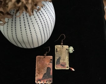 Rustic vintage earrings