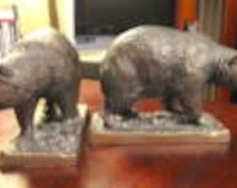 Vintage Henry Van Wolf Bear Bookends
