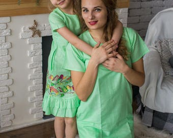 Matching Shift Dresses - Matching Mommy Baby dresses - Matching Outfit, Mom and Me, Matching dresses, Mini Me, Shift dress, tunic dress
