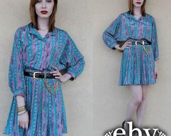 80s Secretary Dress 80s Mini Dress 80s Day Dress Vintage 80s Secretary Mini Day Dress S M L