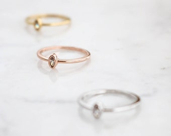 NEW* Elle Marquise Crystal Ring, Minimalist ring, Crystal ring, stackable ring, Statement ring, stacking ring, dainty ring, thin