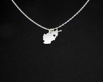 Afghanistan Necklace - Afghanistan Jewelry - Afghanistan Gift