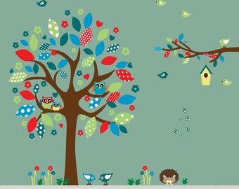 REUSABLE Fabric Tree Wall Decal, Kids Tree Decal, 140