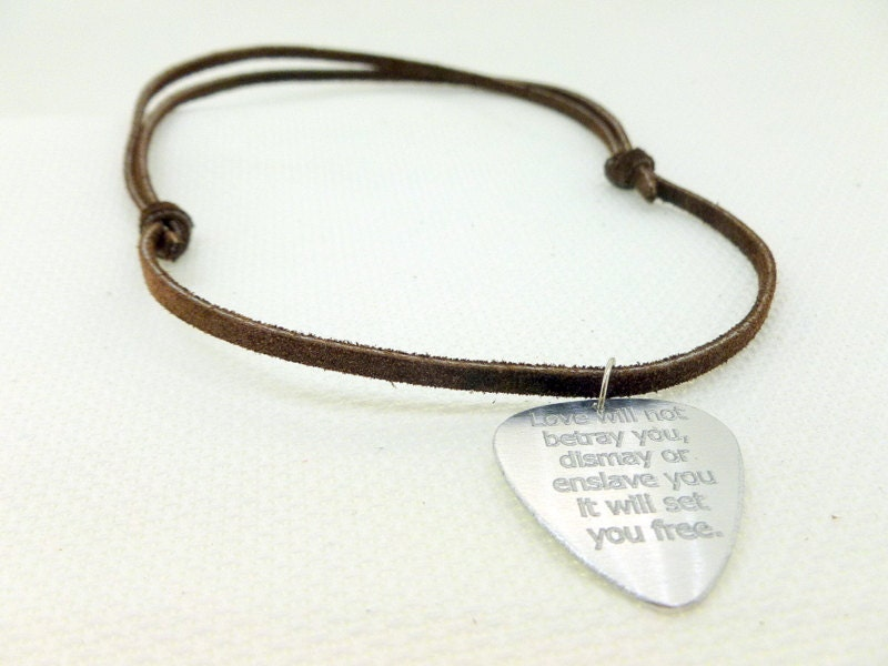 custom silver listing pick guitar personalized necklace il krbw