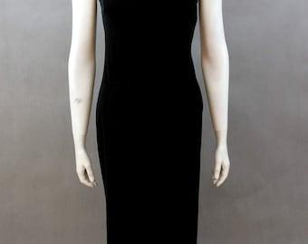Velvet Vintage Dress - Long Velvet Dress - Velvet Retro Dress - Black Retro Velvet Dress - Female Velvet Dress - 80s Black Velvet Dress