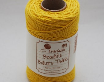 100% Cotton Bakers Twine - approx 100 meters (109 yards) - Made in the UK