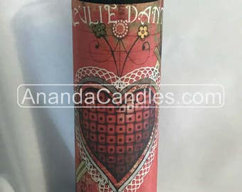 Hoodoo Erzulie Danto Veve Fixed 7 Day Candle Witchcraft Metaphysical