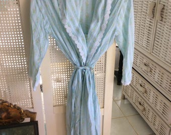 Vintage Laura Ashley Cotton Robe, Size S-M, Mint!