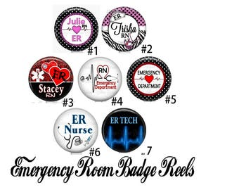 Your Choice Emergency Room ER Department Tech Retractable ID Badge Reels