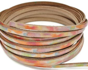 "5MM Flat Watercolors  - 1M/39.4""  -  Best Quality European Leather Cord"
