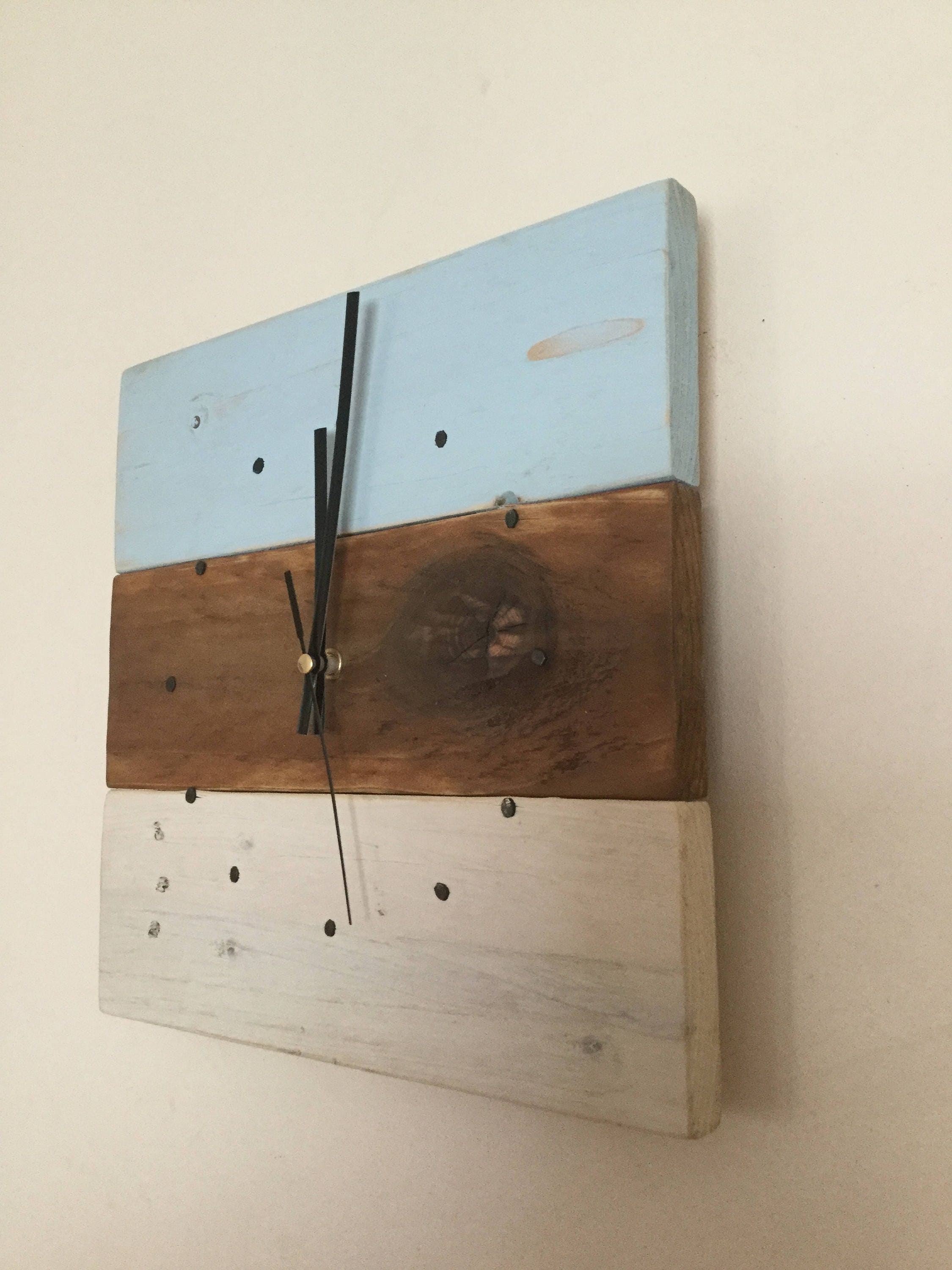 zoom Pastel Clock Wooden Wall Clock Reclaimed