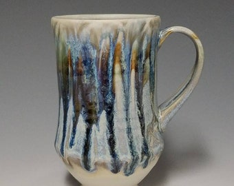 Handmade wheel thrown ceramic mug #1155
