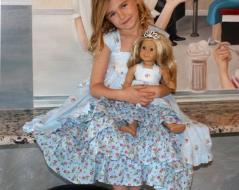 SPECIAL** PRINTED Pattern Set: Tea Party Dress & Dolly Dress