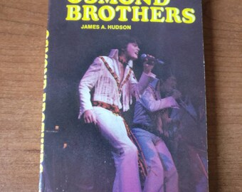 The Osmond Brothers by James A. Hudson p.1972 scholastic paperback book