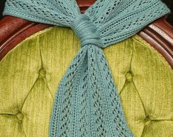 Whipple Blue Lace Merino Wool & Tencel Heavenly Knits Joan