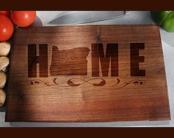 Oregon Custom Engraved Cutting Board, Wedding Gift, Home Decor, Anniversary Gift, Bridal Gift, Birthday