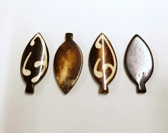 Real Bone Carved Spearhead Pendants