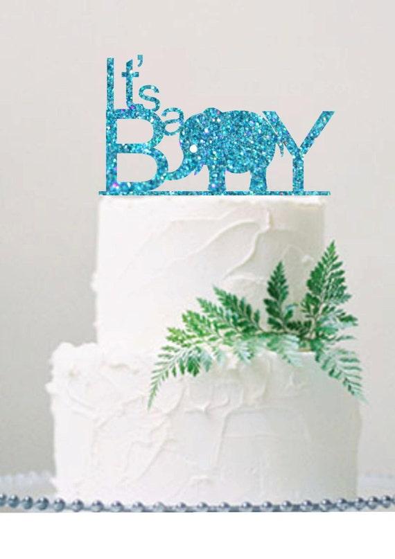 Itu0027s A Boy Cake Topper Baby Shower Cake Topper Baby Shower Decoration Baby  Shower Boy Glitter Cake Topper Baby Boy Shower From HappyPartyDecor On Etsy  ...