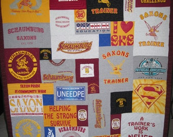 T-Shirt Memory Quilt - Lap or Wall Hanging Size