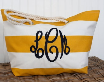 Good Jute Tote Monogrammed Large Utility Tote Beach Bag Personalized Beach  Tote Embroidered Beach Bag Bridesmaid Gift Bag