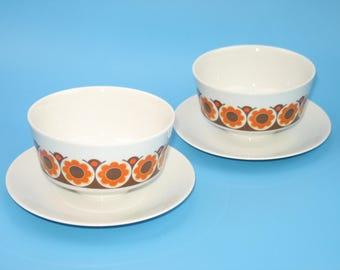Vintage 70s soup bowls by MITTERTEICH (porcelain)