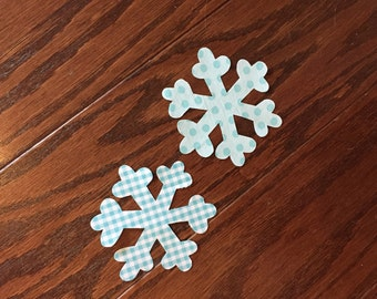 Snowflakes Iron On Applique, you Choose Fabric