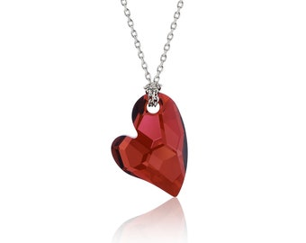 Made with SWAROVSKI © Elements, DEVOTED to YOU Necklace Red Magma