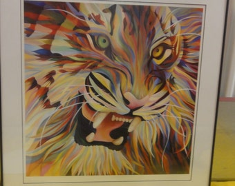 Vintage Tiger Print/ Signed /Numbered