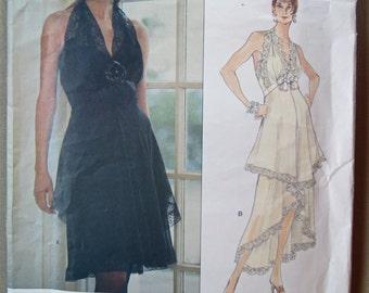 Vogue Unused 1479 Pattern Sassoon Halter Dress Pattern Size Small 6-8-10.