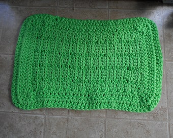 Fresh Green Durable Threshold Porch Patio Rug