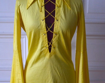 Vintage 1960s lace up tunic