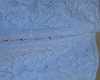 White XL  Corset - nice - Lace - Corsets - Vintage Lingerie