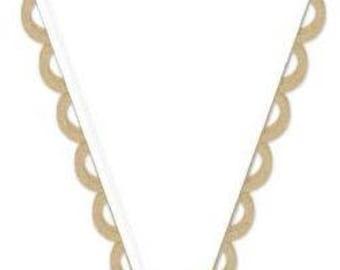 American Crafts Scallop Kraft Banner Kit