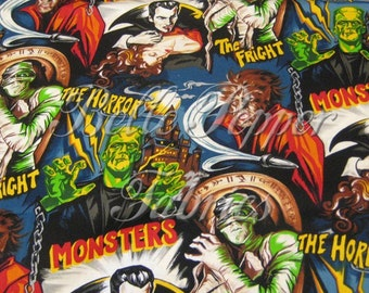 Robert Kaufman Horror Movie Fabric 1 yard
