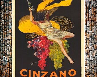 Cinzano Vintage Liquor Ad, Vintage Liquor Print, Cinzano Wine Ad, Vintage Wine Ad,  Vintage Art , Giclee Art Print, Fine Art Reproduction