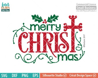Merry Christ mas SVG, Christmas SVG, Holly leaves, word art,  Typography,  svg png dxf eps, cameo file, cricut file, svg file