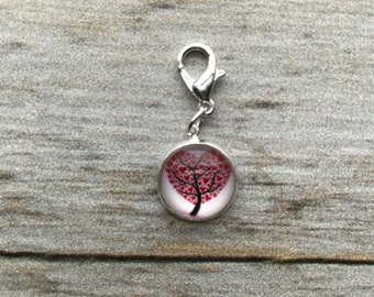 Planner Charm - Valentine Heart Love Tree Medium Charm Patterned Planner Jewelry, Accessories