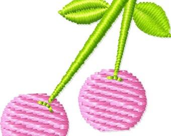 Cherries Machine Embroidery Design Mini