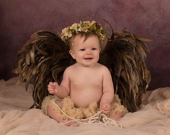 Angel Wings, Earth Angel Wings, Baby Angel Wings, Photo Props, Angel Wing Props, Infant Baby Wings, Feather Wings, Props