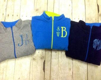 Monogrammed Kids Fleece Jacket/ Monogrammed Boys Full Zip Fleece Coat/ Kids Monogrammed Coat/ Monogrammed Kids Jacket/ Girls Jacket
