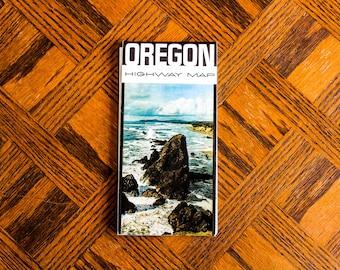 Vintage Map of Oregon 1960s