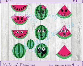 Melon svg, Melon funny faces, Watermelon svg, fruit svg, kids svg, cartoon fruit svg, Funny fruit svg, scanncut, summer svg, svg cut  file