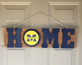University of Michigan, University of Michigan Gift, University of Michigan Sign | University of Michigan Decor | University of Michigan Fan