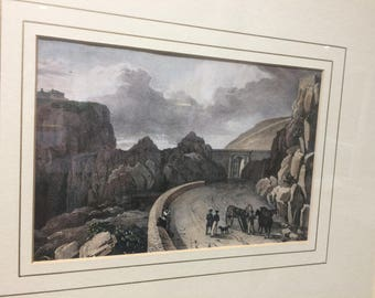 Historical Gibraltar Print by Major West, 3 in collection of 4 available
