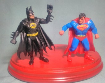 2 figures of Superman and Batman brand Comics Spain, of 1992, in rubber PVC.