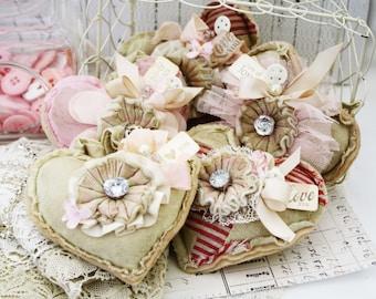 Hugs and Kisses Heart Pincushion
